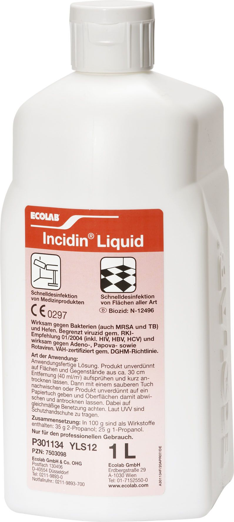 Dezinfectant Incidin Liquid 600 ml - solutie