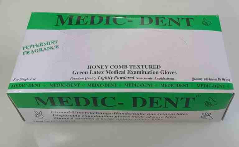 Manusi latex PUDRATE texturate cu menta, verzi - L,M,S,XS - 100 buc - produs indisponibil momentan